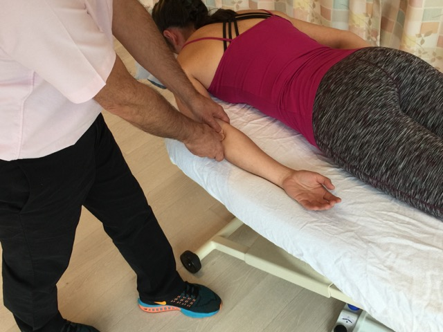 cross fiber soft tissue manipulation (massage) for golfer's elbow