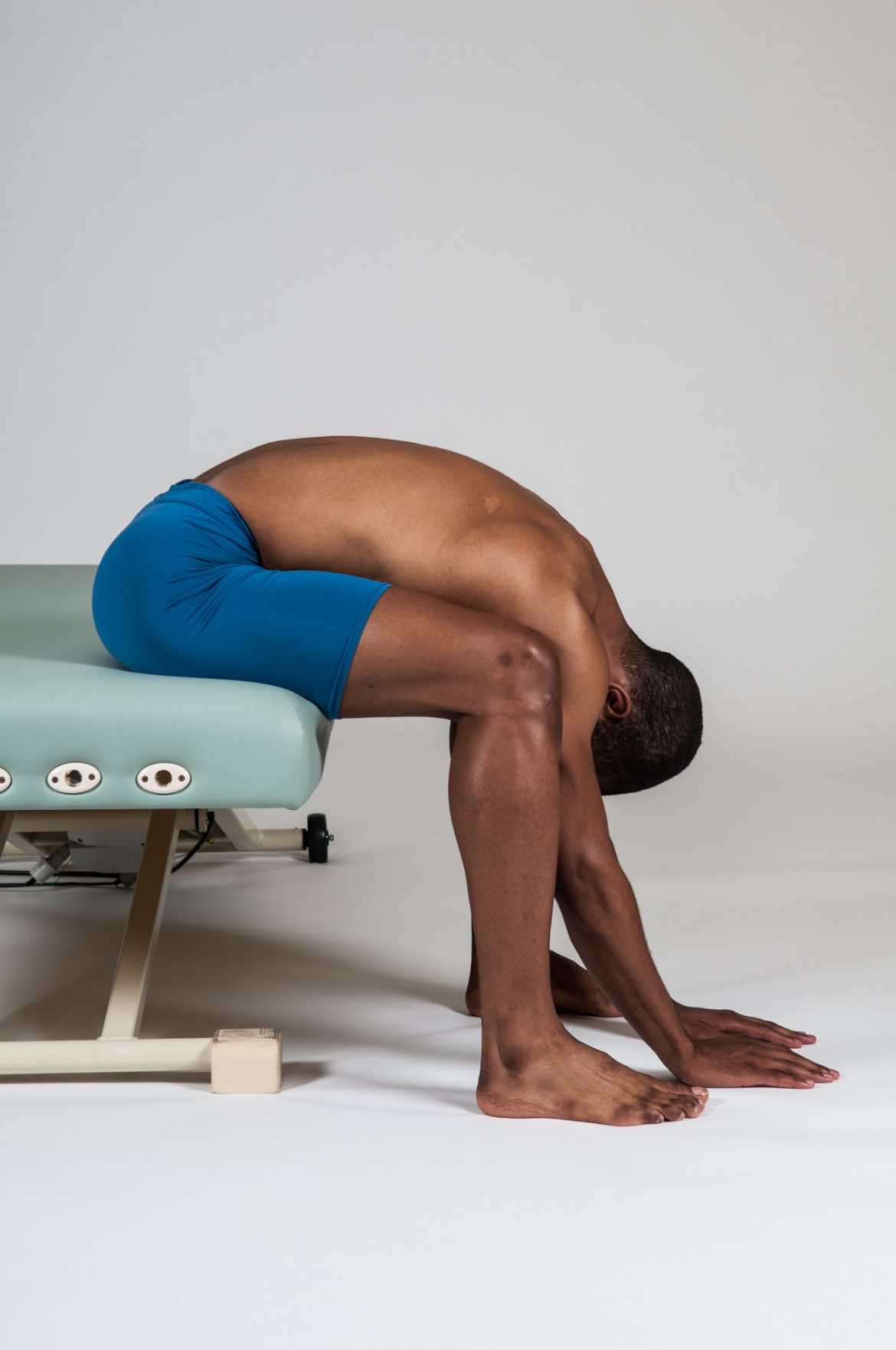 A seated stretch for the low back extensor musculature is beneficial for lower crossed syndrome