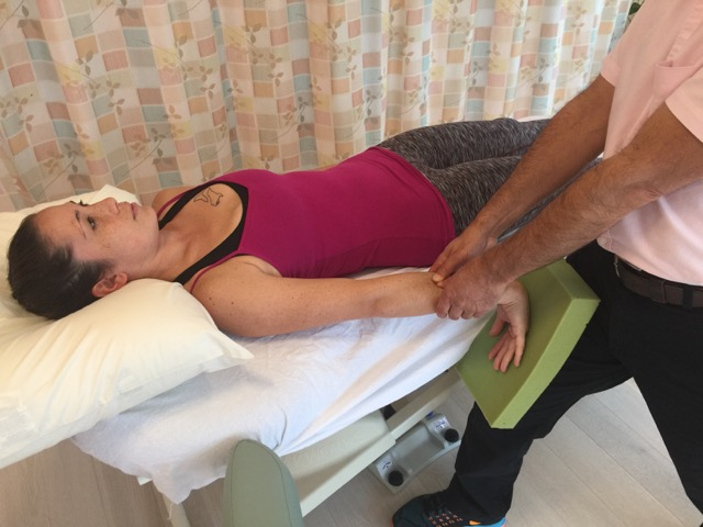 Manual therapy and self-care treatment of wrist sprain