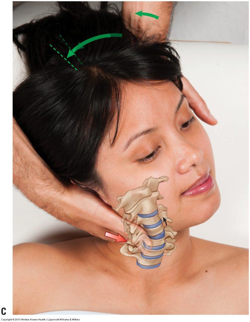 Cervical spine joint mobilization