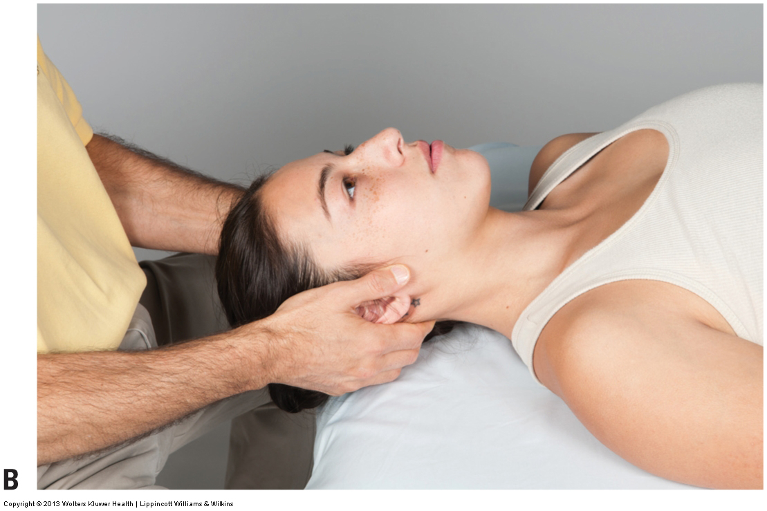 cervical distraction test performed to assess a space occupying condition of the cervical spine