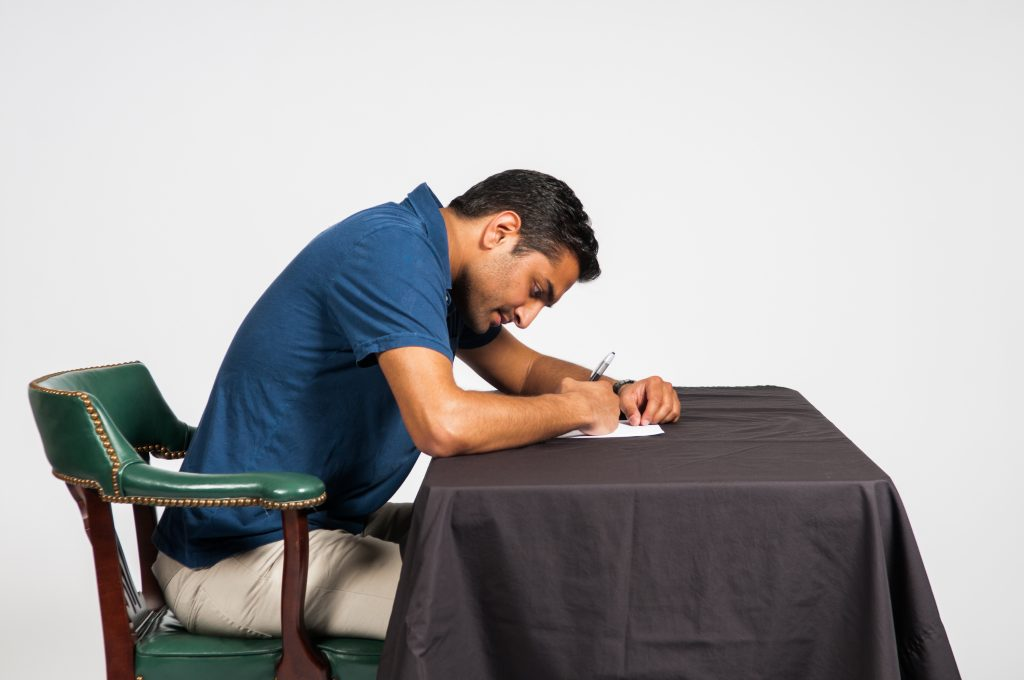 Unhealthy posture - writing