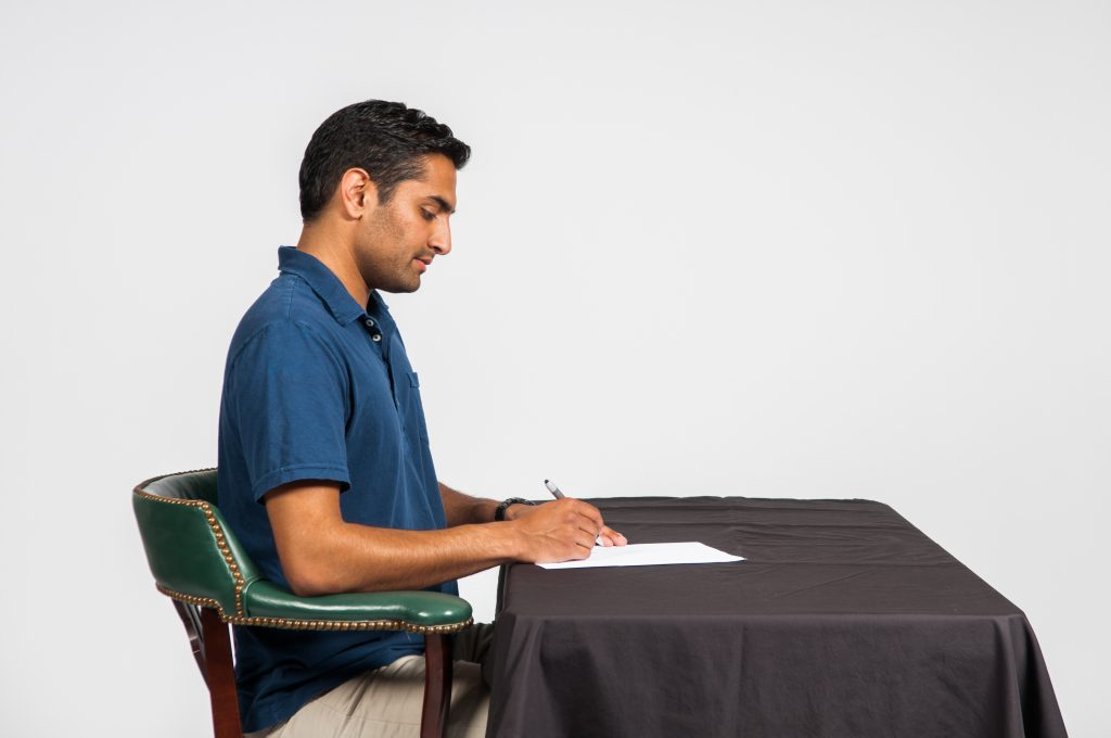 Healthy posture - writing