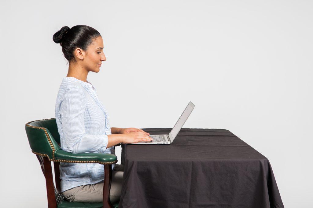 Good posture - Laptop