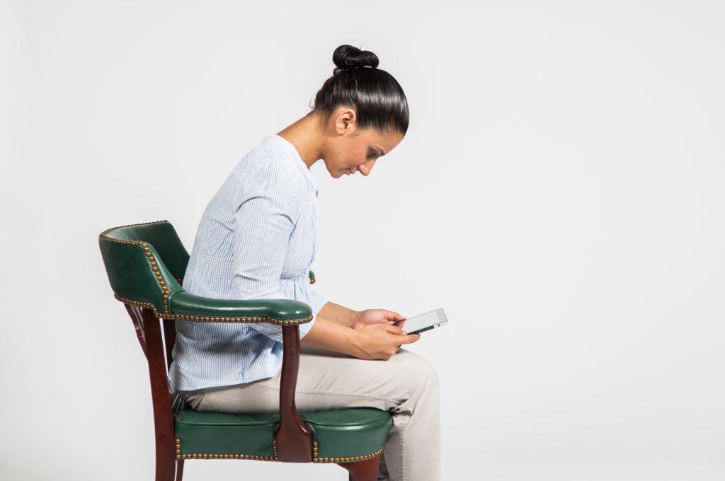 Bad posture - tablet