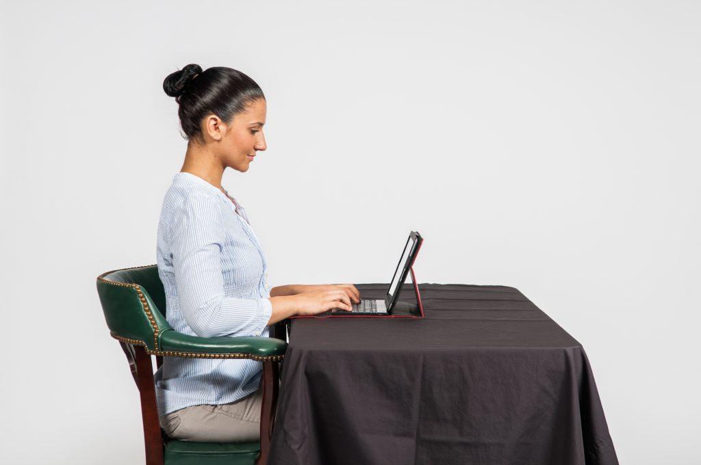 Good posture - tablet