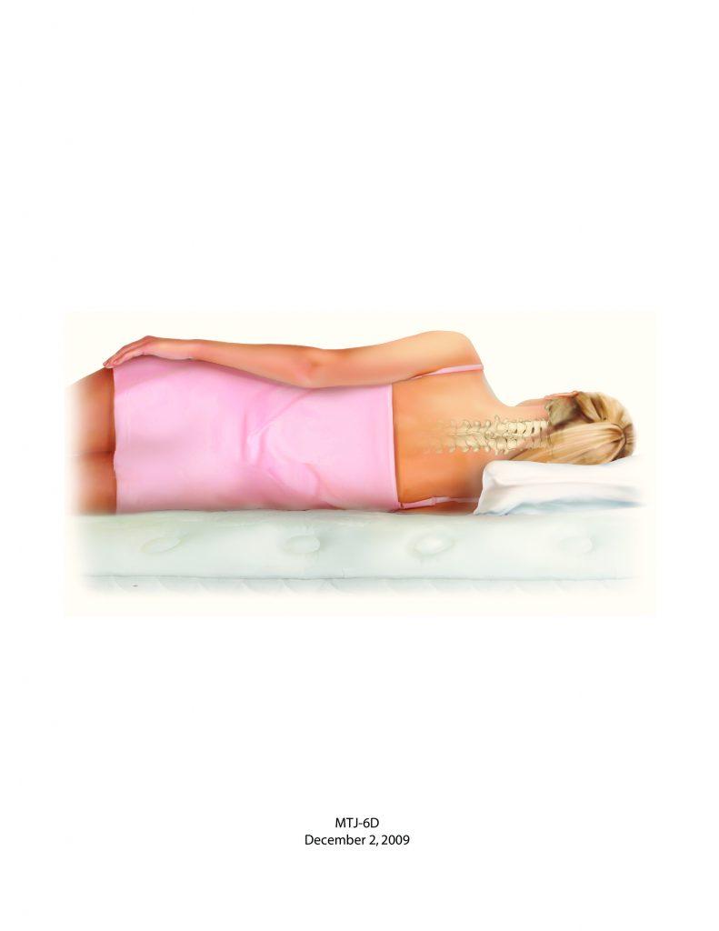 Good posture - side sleeping