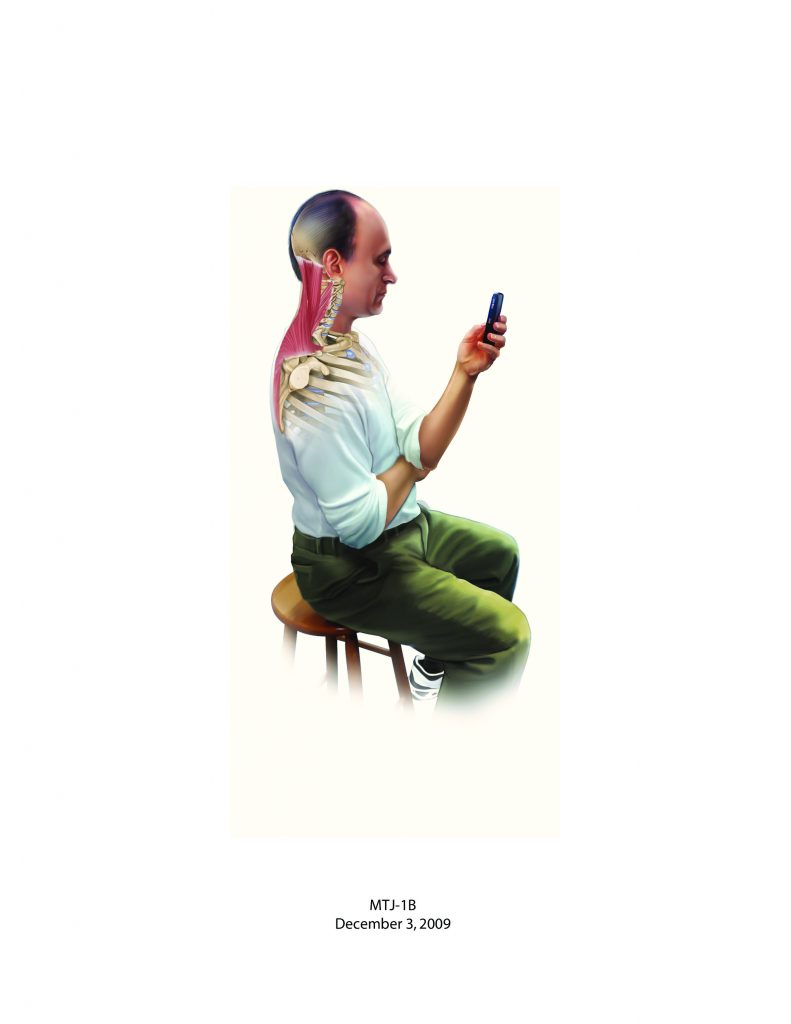 Good posture with a smart phone