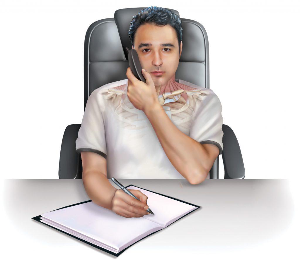 Holding phone good posture