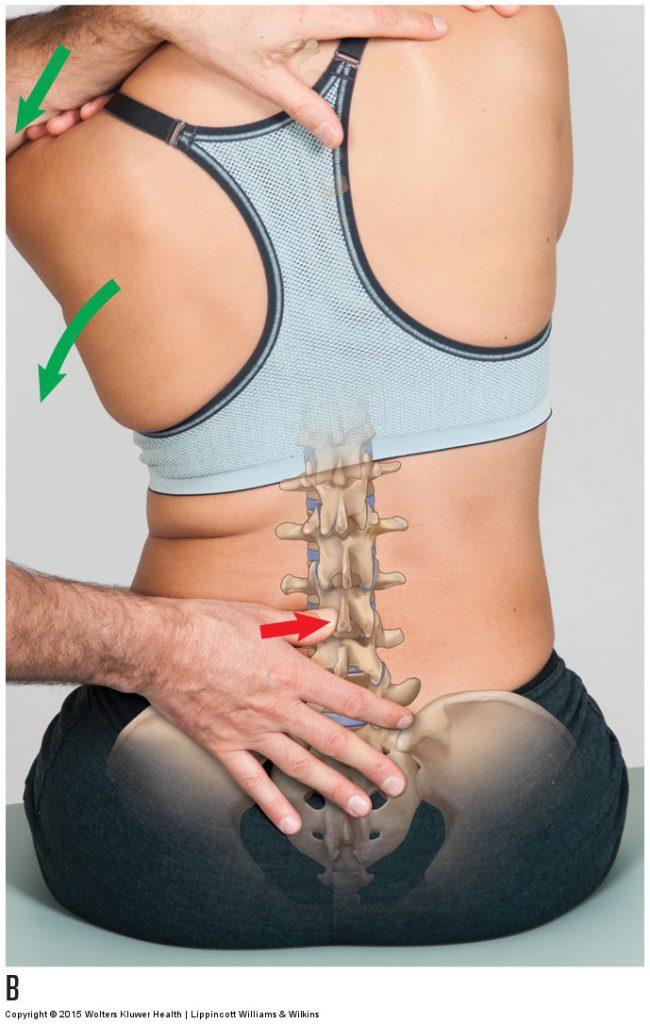 Lumbar joint mobilization
