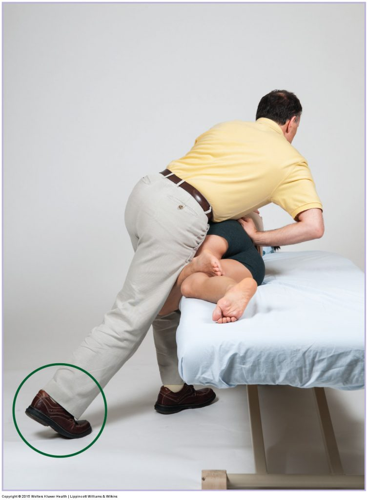Side-lying joint mobilization for the sacroiliac joint. Permission Joseph E. Muscolino. Manual Therapy for the Low Back and Pelvis - A Clinical Orthopedic Approach (2015).