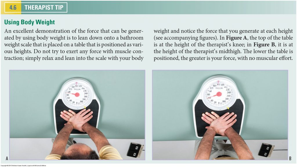 Bathroom Scale. Permission Joseph E. Muscolino. Manual Therapy for the Low Back and Pelvis - A Clinical Orthopedic Approach (2013).