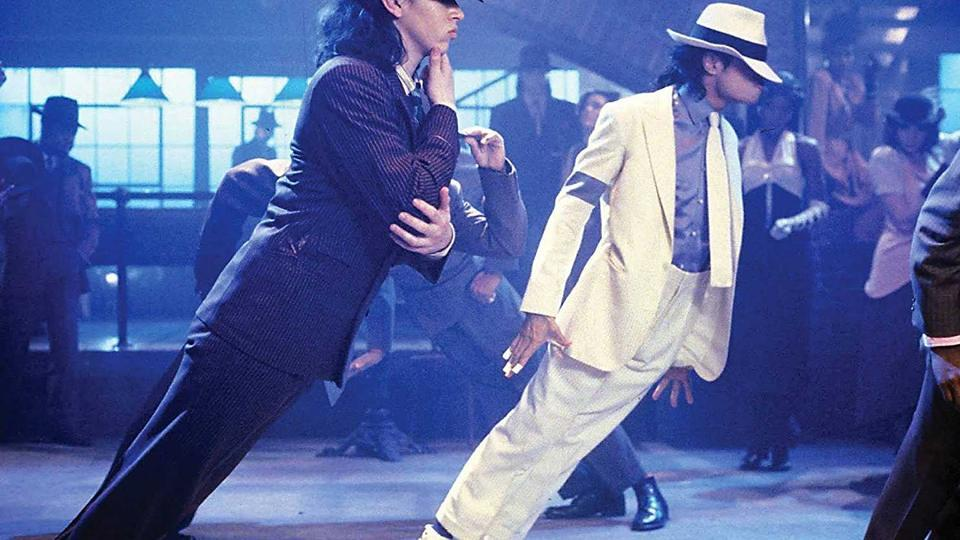Michael Jackson challenges biomechanics in Smooth Criminal video.