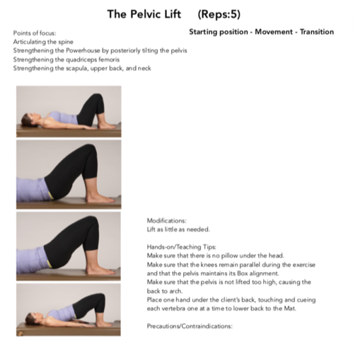 Figure 4. The Pelvic Lift Pilates Mat Exercise. Permission Simona Cipriani. The Art of Control.