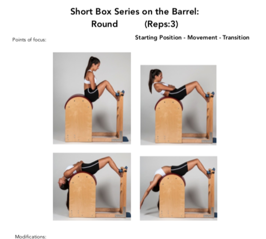 Figure 14. The Short Box Series on the Ladder Barrel Pilates Apparatus Exercise. Permission Simona Cipriani. The Art of Control Pilates Studio, Stamford, CT, USA.