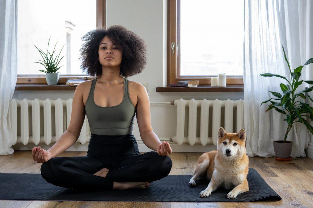 https://www.pexels.com/photo/woman-girl-animal-dog-4056535/